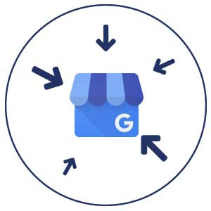 google my business logo with arrows
